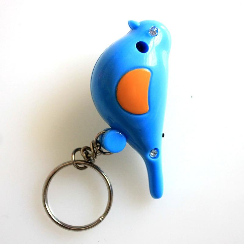 2016 new style whistle key finder birds key chains font b led b font light font