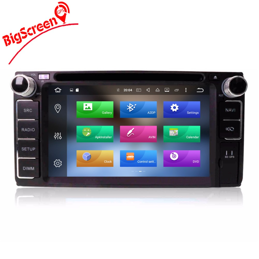 Top Android8.0 7.1 System Octa 8 Core Car DVD Player GPS Navigation For Most of Toyota Car Headunit Multimedia Autoradio Monitor 2