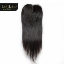 9A Free Shipping Brazilian Virgin Hair Straight Lace Closure Hand-tied 4X4 Swiss Lace Size Dollface Human Hair