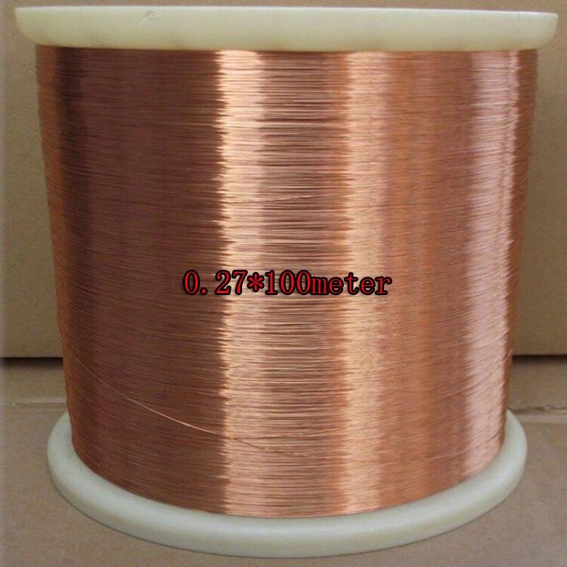 0.27mm 100 m/pc, QA-1-155 novo poliuretano fio esmaltado, fio de cobre