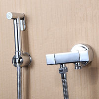 Hot Sale Hand Shower Bidet Spray Brass Shower Head + Mixing Valve Faucet Toilet Flusher Brass Bidet Sprayer Ducha Higienica