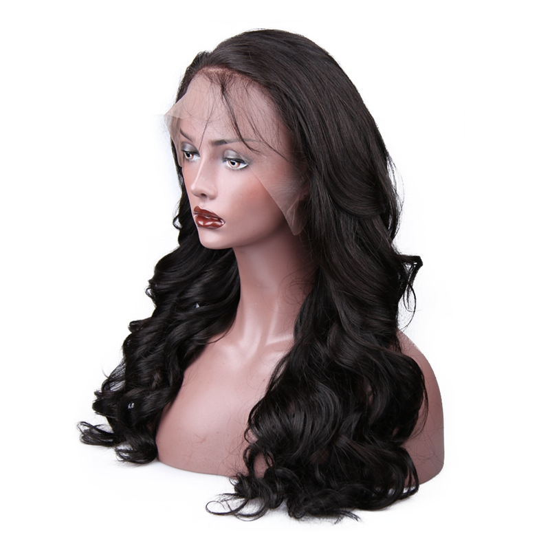 Hot Beauty Hair 360 Lace Frontal Paryk Pre Plucked With Baby Hair - Menneskehår (sort) - Foto 5