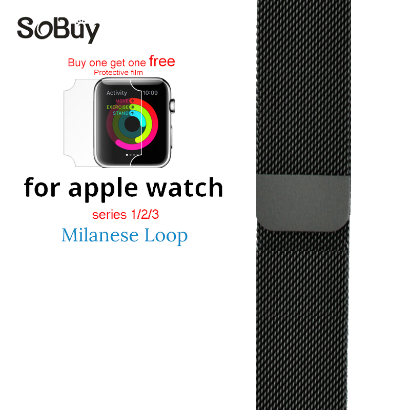 So buy for apple watch series 3/2/1 watchbands 38mm belt 42mm stainless steel bracelet Milanese loop strap for iwatch metal band so buy wrist bracelet 316l stainless steel bands for apple watch 42mm 38mm iwatch strap series 1 2 3 sport milan nice metal band