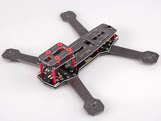 BeeRotor 250 250mm  4-Axis Full Carbon Fiber Racing Mini Quadcopter Frame with PCB Board zmr250 250mm carbon fiber 4 axis 250 mm fpv quadcopter mini h quad frame for qav250