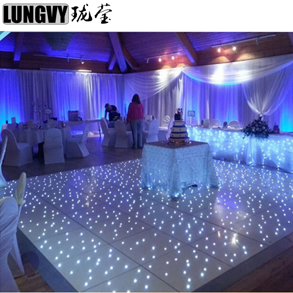 wireless connect 2ft 2ft rgb full color white color stagelight led dancing floor light for dj wedding nightclub pub party