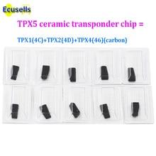 10pcs/lot CAR KEY CHIP TPX5 3 in 1 For JMA Ceramic chip TRANSPONDER cloner CHIP = TPX1(4C) + TPX2(4D) + TPX4(46)  (carbon)
