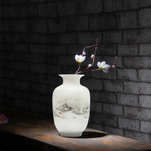 Antique Snow Scenery Vase Ancient Ways Jingdezhen Ceramic Vase For Artificial Flower Decoration Vases