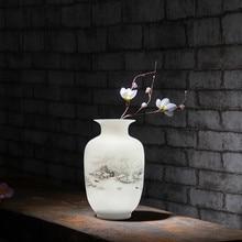 Antique Snow Scenery Vase Ancient Ways Jingdezhen Ceramic Vase For Artificial Flower Decoration Vases