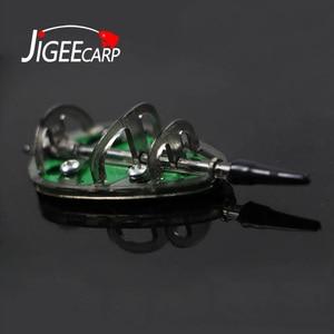 JIGEECARP 1pc Carp Barbel Coarse Inline Flat Method Set Feeder & Mould for Carp Fishing Feeder Lead Sinker Lead Pesca 20-100g(China)