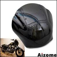 Black Motorcycle Headlight Fairing Headlamp Quarter Fairing For Harley XL XLH 1200 Iron 883 XL883N FXR FXD Dyna Sportster
