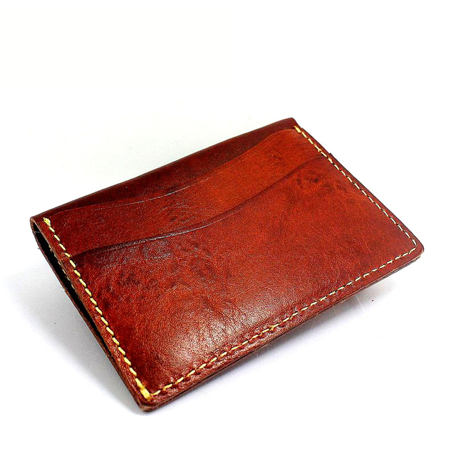 LAN men's small card holder male cowhide genuine leather card case wallet commercial coin purse wallet ultra-thin Women's Gift