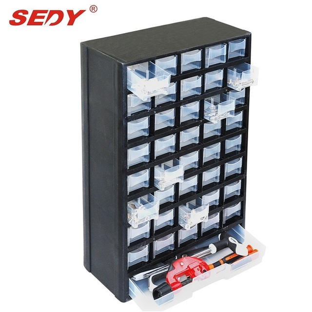 New 41 Drawers Storage Cabinet Tool Box Chest Case Plastic Organizer Toolbox  Bin