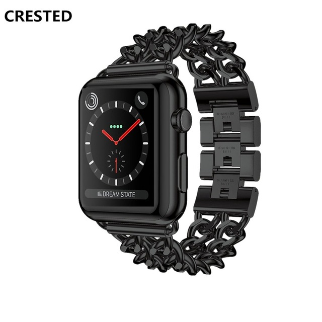 6bceaa476 CRESTED Stainless Steel strap For Apple Watch 4 band 44mm 40mm correa iWatch  series 4 3