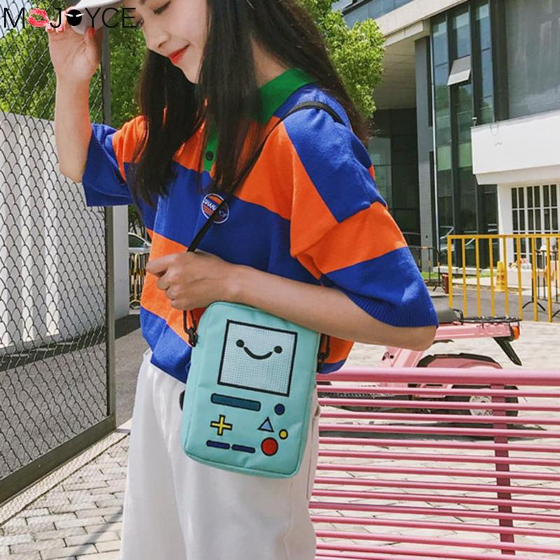 Women Cute Mini Shoulder Bag For Women Girl Lovely Nylon Robot Phone Messenger Crossbody Bag Bolsa Feminina Kids Key Coin Purse