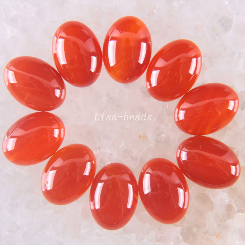 Free Shipping Fashion Jewelry 13x18MM Natural Red Carnelian CAB Cabochon 10Pcs K1604
