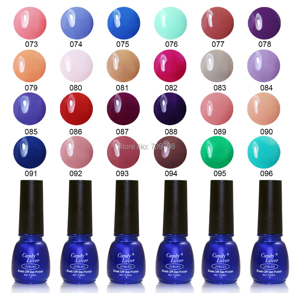 Candy Lover Nail Gel Polish 8ml 240 Fashion Colors Promotion Hot-Selling Soak Off LED UV Nail Gel Varnish Gel Lacquer Wholesale