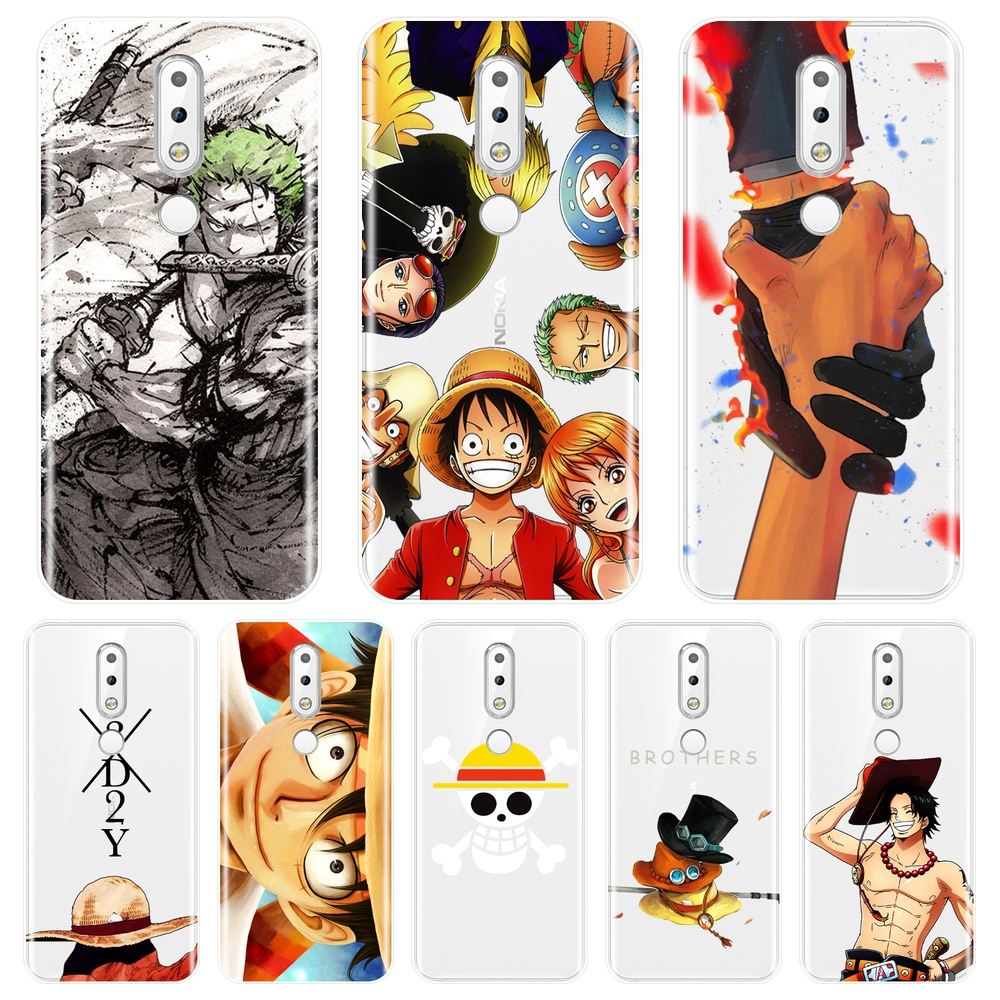 Phone Case For <font><b>Nokia</b></font> 7.1 <font><b>6.1</b></font> 5.1 3.1 2.1 One Piece Luffy Ace Zoro <font><b>Silicone</b></font> Soft <font><b>Back</b></font> <font><b>Cover</b></font> For <font><b>Nokia</b></font> 7.1 <font><b>6.1</b></font> 5.1 3.1 2.1 <font><b>Plus</b></font> image