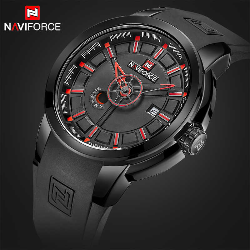 NAVIFORCE Luxury Brand Men Military Sport Watches Men's Casual Date Quartz Wristwatches Male Week Analog Clock Relogio Masculino