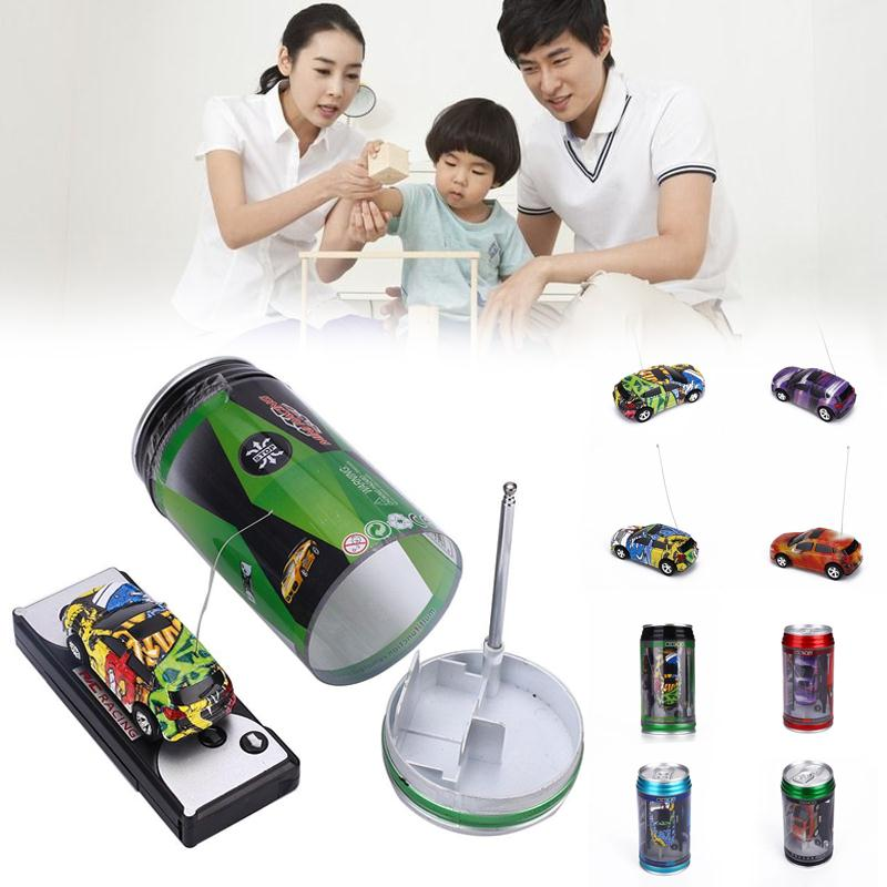 Remote Control Coke Can Car Micro Automobile Race RC Car Kids Gift Toys