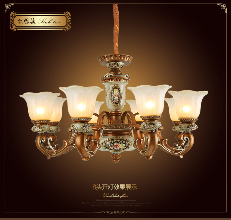 HGhomeart Chandelier American restaurant lights European-style bedroom ceiling lamp retro living room chandelier hotel lights цена и фото