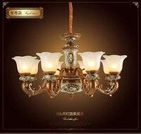 HGhomeart Chandelier American đèn nhà hàng Châu Âu theo phong cách phòng ngủ đèn trần phòng khách retro khách sạn đèn chùm đèn