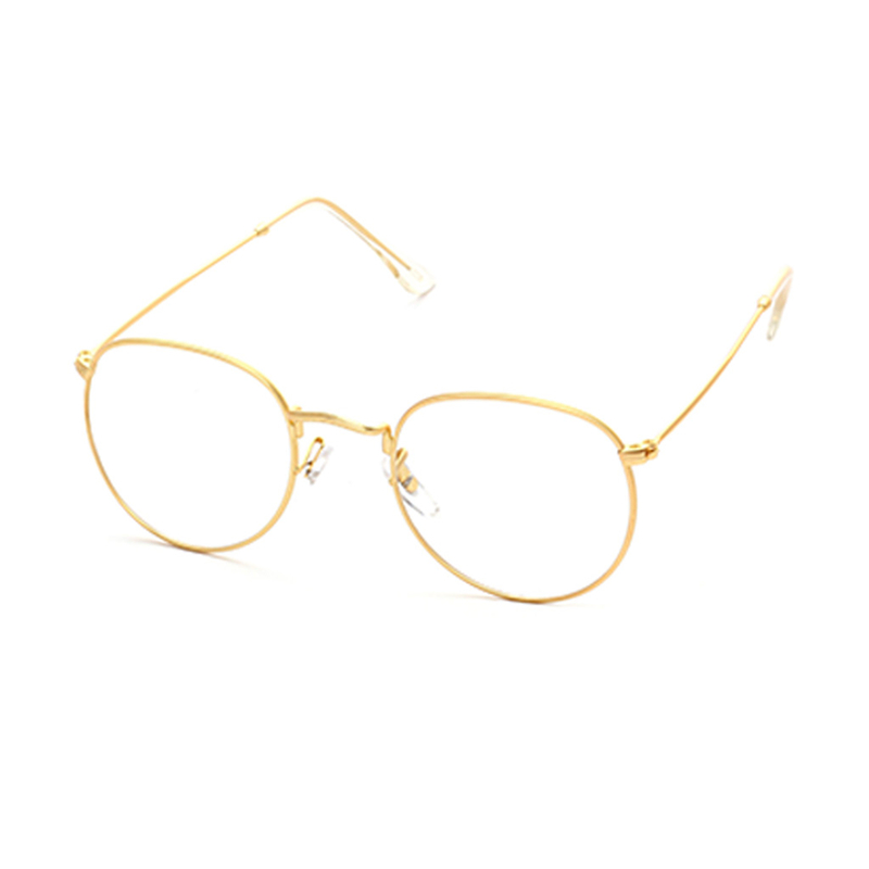 Pro Acme Super leichte Runde Gold Rahmen Gläser Original Klare Linse ...