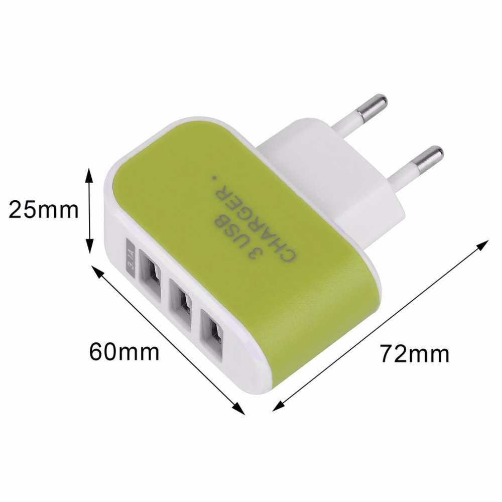 Hot Triple Usb Port Wall Home Travel Ac Power Charger Adapter 31a Outlet Ports Plugged Wiring Devices Office Device Eu Plug Wholesale In Electrical From Consumer Electronics On