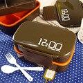 Marmita Dupla Caixa de Microondas Selado lancheira Coreano Japonês Bento Lunch Box Set Para As Crianças Alimentos Recipientes De Criança Nova Lancheira