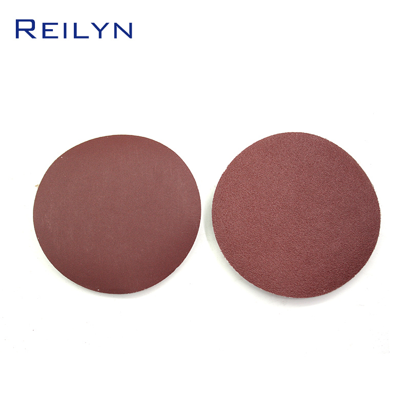 Pneumatic Sanding Disc 4/5/6 Inch Red Pink White Hole Without Holes Paper Base Material Metal Processing Furniture Ship Polishin
