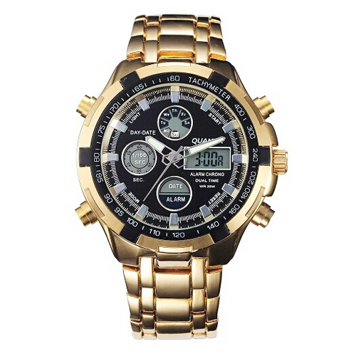 Image 3 - Military Watches Men Luxury Brand Full Steel Watch Sports Quartz Multi function LED Waterpoof Gold Wristwatch Relogio Masculinomasculinomasculinos relogiosmasculino watch -