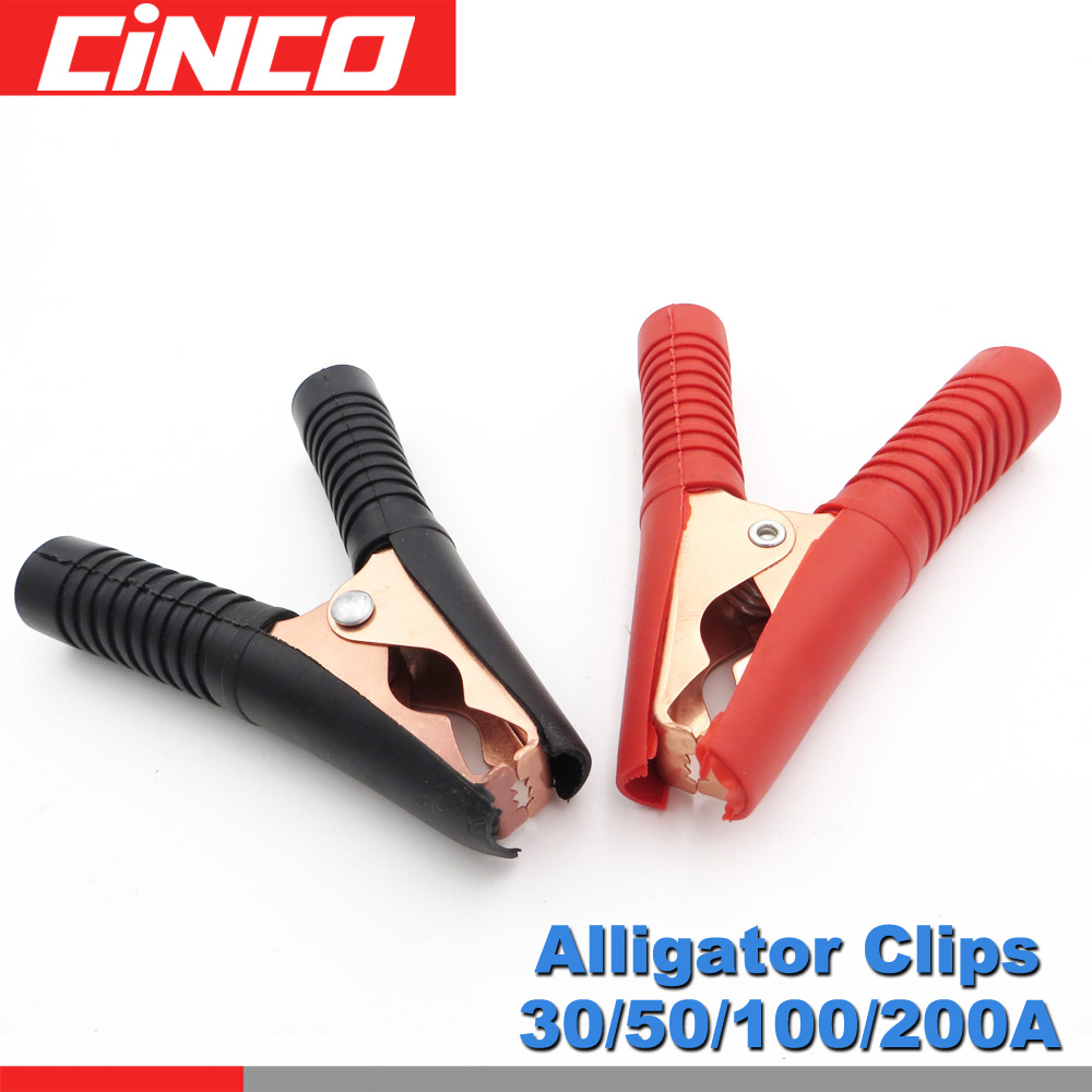 10 Pack RED Alligator Clip 30 Amp Battery Clamp