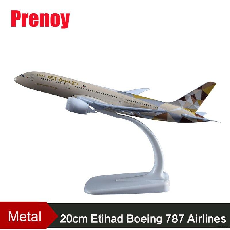 20 cm Etihad Boeing 787 Avion Modèle Egypte A330 Australie Qanta A380 Vietnam Boeing 787 Singapour A380 Prototype Boeing 747-400