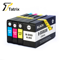 4PK For HP 950XL BK C M Y Compatible Ink Cartridge For HP OfficejetPro 8100 8600