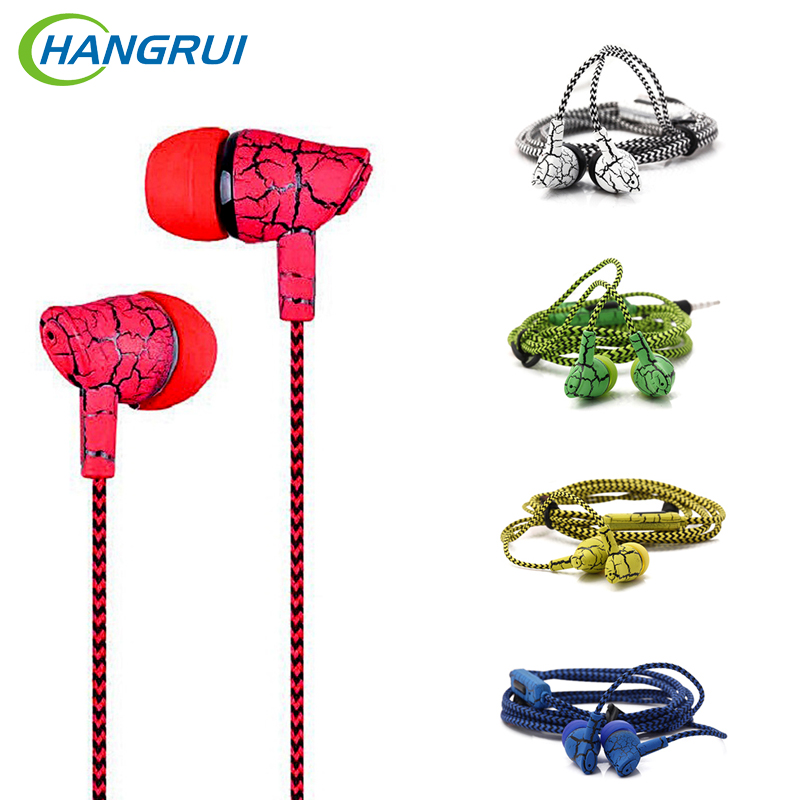 Hangrui SF-A10 3.5mm Wired Control Earphone In Ear Noise Cancelling Headset Hifi Stereo Earbuds With Microphone fone de ouvido
