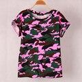 2017 Summer Tops Tees Ladies Short T Shirt women Camouflage Print T-shirt Cotton Female Shirts Loose Woman Clothes Vestidos