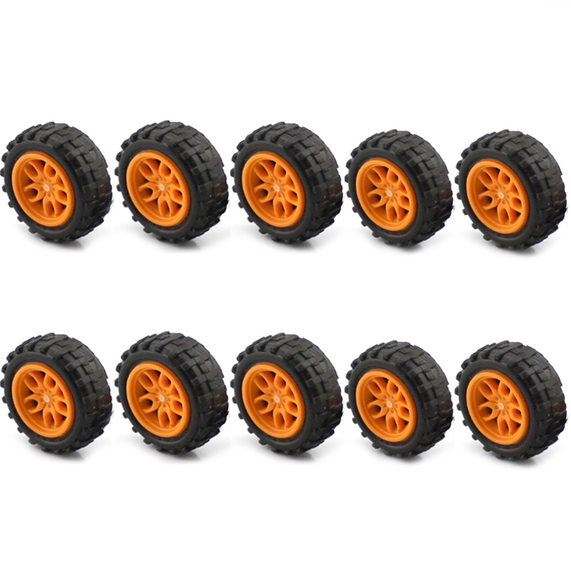 Feichao Rubber Small Wheel Combination Of Small Wheels Tire Pulley DIY Toy Model Accessories For Car