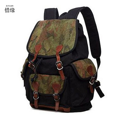 XIYUAN Man's Canvas Backpack Travel Schoolbag Male Backpack Men Large Capacity Rucksack Shoulder School Bag Mochila EscolaR GIFT hot casual travel men s backpacks cute pet dog printing backpack for men large capacity laptop canvas rucksack mochila escolar