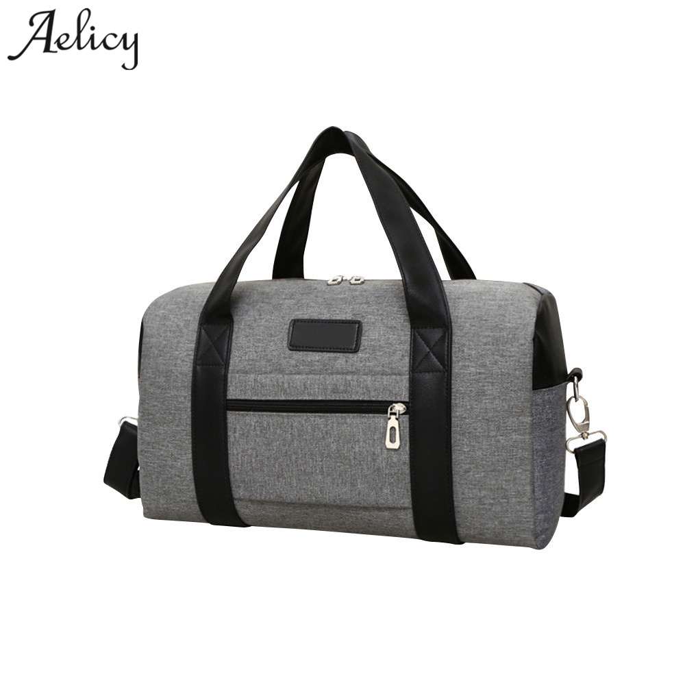 5fcdc64772 Aelicy Canvas Men Travel Bags Large Capacity Women Luggage Travel Duffle  Bags New Arrival Men s Casual Portable Shoulder Bags