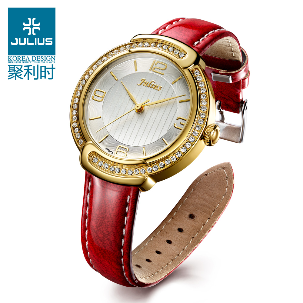 Lady Wrist Watch Quartz Women s Hours Best Fashion Dress Bracelet Band Leather Crystal Elegant Valentine