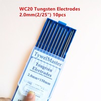 High Quality Tig Rod WC20 Tungsten Electrode 2 0mm 2 25 X150mm 6 10pcs Pack 2