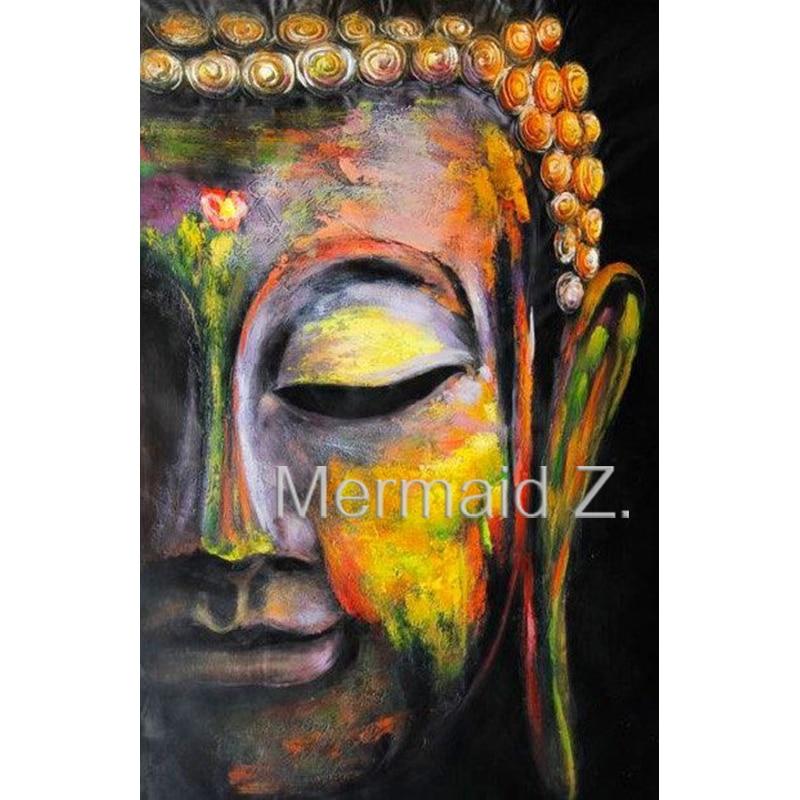 əllə hazırlanan Tayland yağlı boya Budo Retro üzü klassik Baş - Ev dekoru - Fotoqrafiya 1