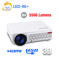 2017 New LED96 LED Projector 1080P 5500lumens Video HDMI USB 1280x800 Full HD Home Theater Projector