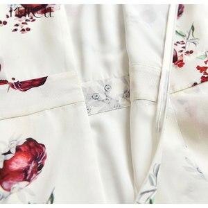 Image 5 - Meyve Baskılı 100% Ipek Midi Elbise 2019 İlkbahar Yaz Moda Kısa Kollu Yaz Elbise 2019 Yaz