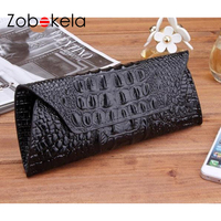 Zobokela Women Wallets Dollar Price Genuine Leather Wallet Card Holder Travel Long Womens Wallets And Purses