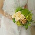 Искусственный Лотос Seedpod Сочные Свадебный Букет де mariage 2017 Vintage Чешские Страна Свадебные Цветы Свадебные Букеты