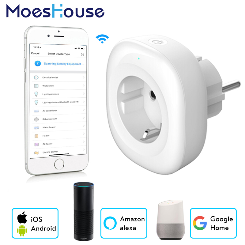 Wifi Smart Socket EU Plug Mobile APP Remote Control Works With Amazon Alexa Google Home No Hub Required With USB Output