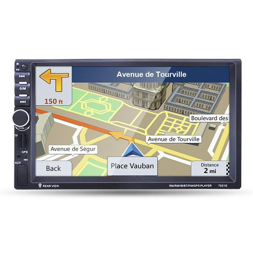 7021G Car MP5 Player 7'' HD 2 Din Touch Screen BT Mirror