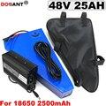 Бесплатная доставка 48В 25ач треугольная литиевая батарея для электровелосипеда 1500 Вт 13С 10р 48В литий-ионный аккумулятор для электровелосипе...