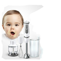 Food Mixers Multi function broken wall food machine infant side food, hand in stirring stick.