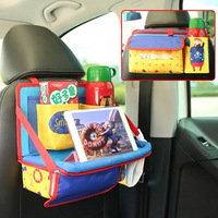 Car Backseat Storage Bag For Kids Oxford Cartoon Folding Auto Organizers Back Child Dining Table Organizador
